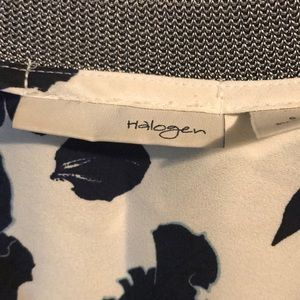 Halogen Tops - Halogen navy and white blouse.